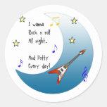 I wanna rock n roll all night sticker