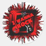 I wanna rock stickers
