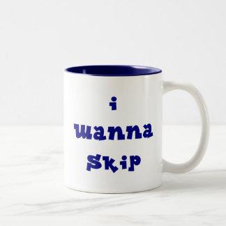 I Wanna Skip Mug - Blue