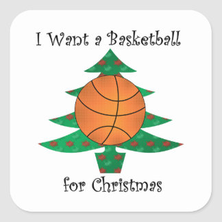 I want a basketball for Christmas Stickers