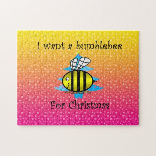 I want a bumblebee for Christmas Puzzles