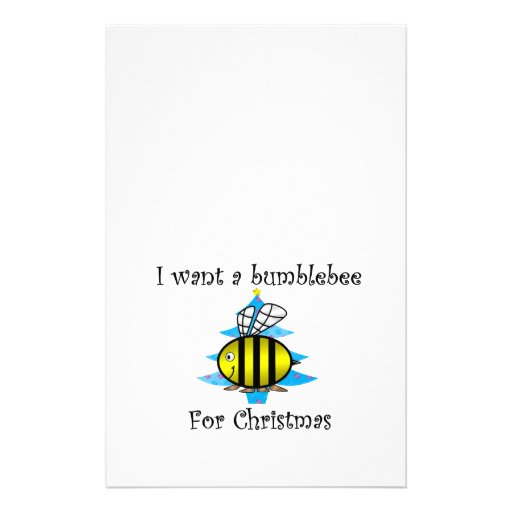 I want a bumblebee for Christmas Stationery Design