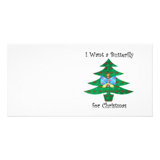 I want a butterfly for christmas photo card