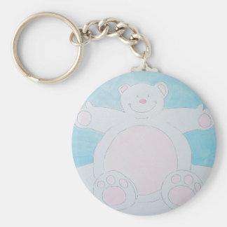 I want a cuddle! basic round button keychain