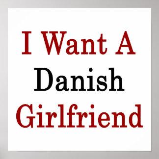 I Want A Danish Girlfriend Poster
