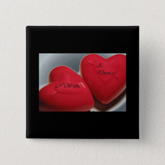 I Want A Divorce Hearts Button (Fit)