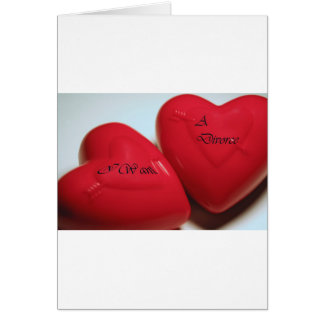 I Want A Divorce Hearts Greeting Card V (Fit)
