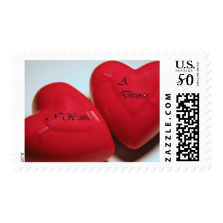 I Want A Divorce Hearts Postage Horizontal (Fill)