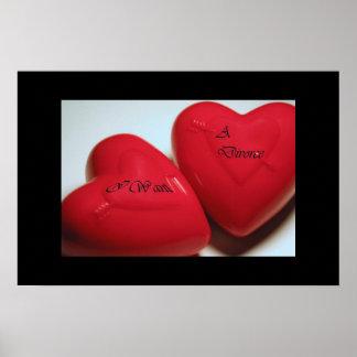 I Want A Divorce Hearts Poster