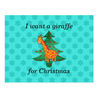 I want a giraffe for christmas post cards