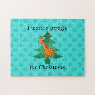 I want a giraffe for christmas puzzles