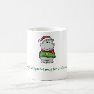 I want a Hippopotamus for Christmas - Hippo Design Coffee Mug