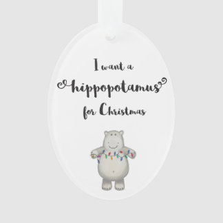 Hippopotamus Christmas Ornament