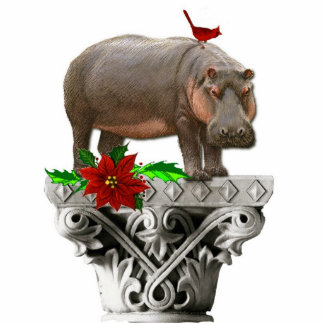 I Want A Hippopotamus For Christmas Standing Photo Sculpture