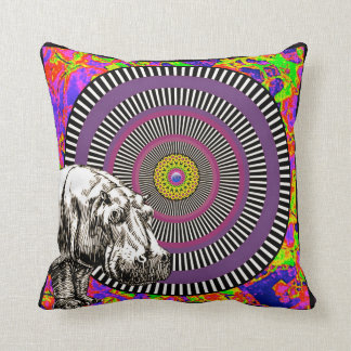 I want a hippopotamus for Christmas Throw Pillow