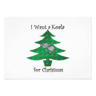 I want a koala for christmas announcement