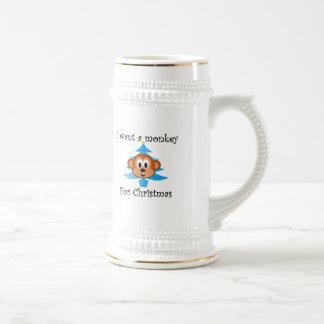 I want a monkey for Christmas Coffee Mug