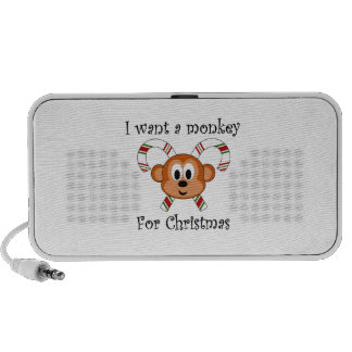 I want a monkey for Christmas Travelling Speakers
