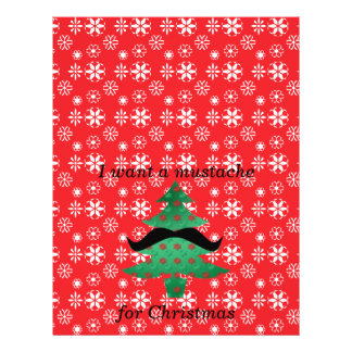 """I want a mustache for christmas 8.5"""" x 11"""" flyer"""
