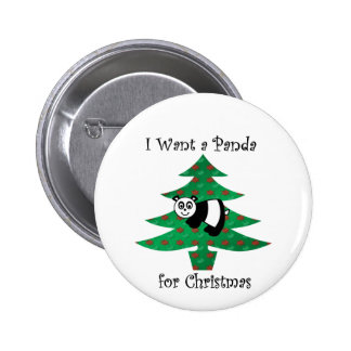 I want a panda for christmas buttons