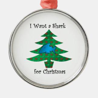 I want a shark for christmas christmas ornaments