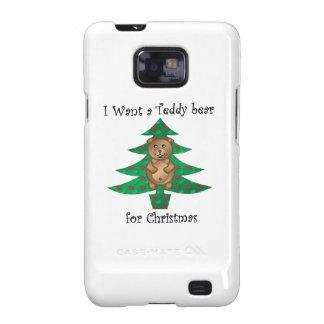 I want a teddy bear for christmas samsung galaxy SII cases