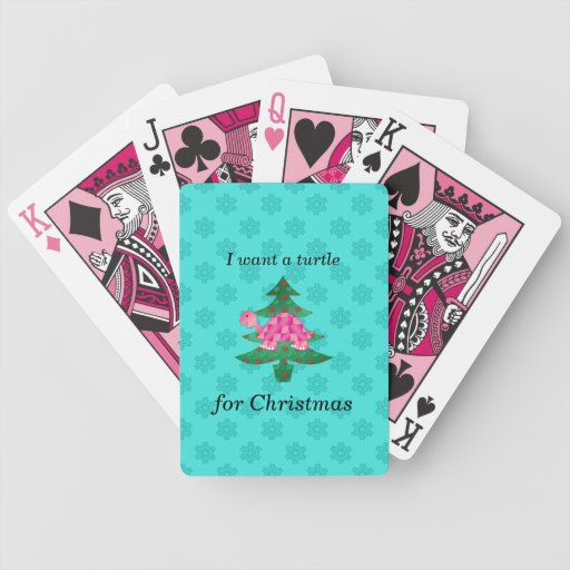 I want a turtle for christmas bicycle playing cards