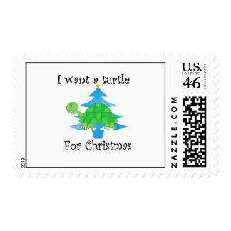 I want a turtle for Christmas Stamp