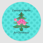 I want a turtle for christmas stickers