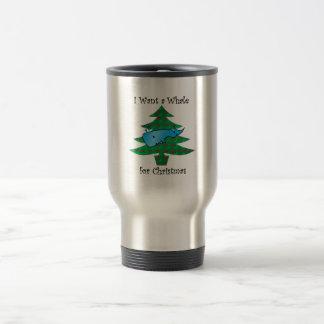 I want a whale for christmas mug