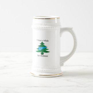 I want a whale for christmas mugs