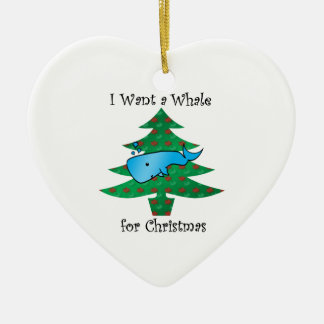 I want a whale for christmas ornaments