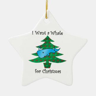 I want a whale for christmas christmas tree ornament