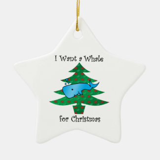 I want a whale for christmas ornament
