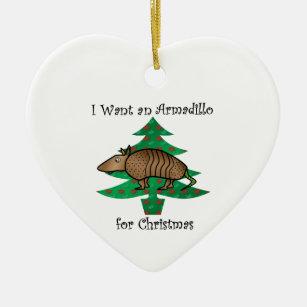 Armadillo Holiday Ornament