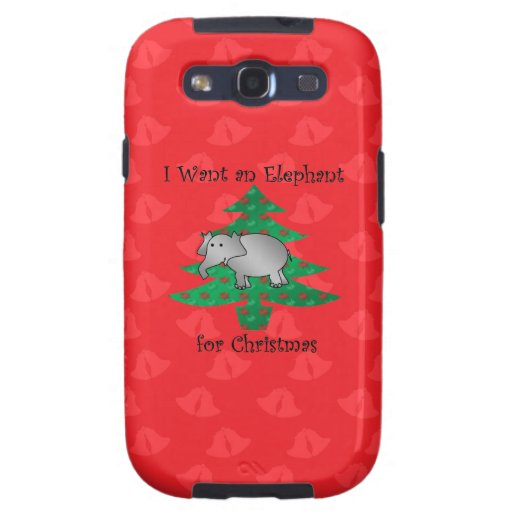 I want an elephant for christmas galaxy SIII cases
