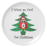 I want an owl for christmas party plates