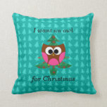 I want an owl for christmas pillow