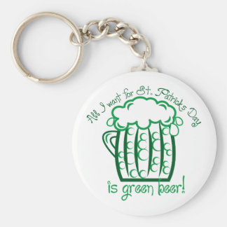 I Want Beer Basic Round Button Keychain