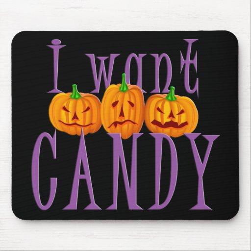 I Want Candy Jack O'Lantern Halloween Mouse Pad