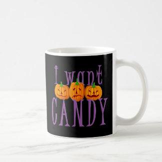 I Want Candy Jack O'Lantern Halloween Classic White Coffee Mug