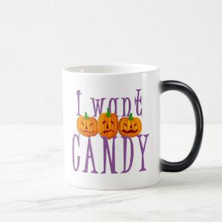 I Want Candy Jack O'Lantern Halloween Mug