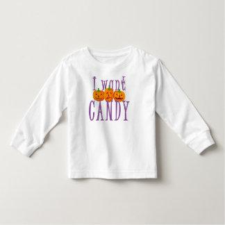 I Want Candy Jack O'Lantern Halloween Toddler T-shirt