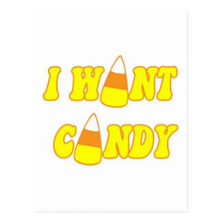 I Want Candy Postcard
