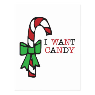 I Want Candy Postcards