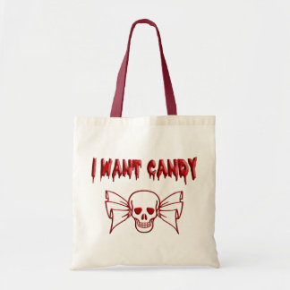 I Want Candy (Skull) Tote Bag