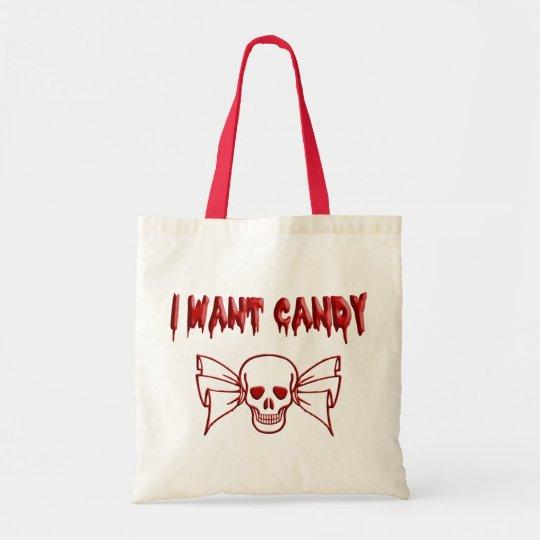I Want Candy (Skull) Tote Bag