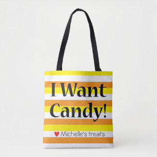 """I Want Candy"" trick-or-treat bag"