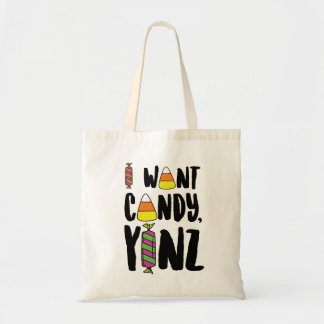 I Want Candy, Yinz Design Tote Bag