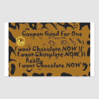 I want chocolate coupon sticker